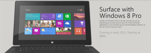 Surface Windows 8 Pro Coming Soon