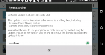 HTC One M8 First Software Update 2