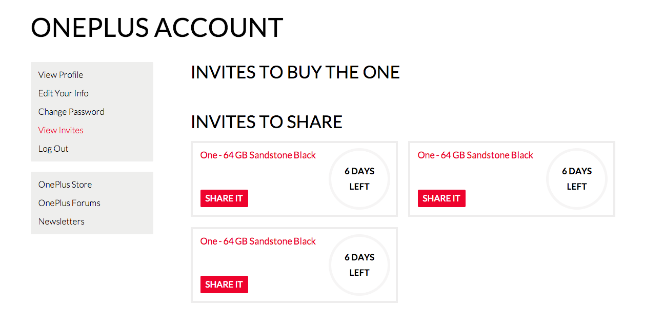GIVEAWAY – 3 More OnePlus One Invites 64GB Edition