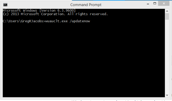 Command to enter on command Line